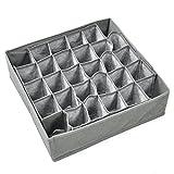 TRIXES Contenedor Subdividido para Cajones - 30 Compartimentos - en Tela - Caja para Guardar Calcetines, Corbatas, Ropa Interior - Organizador del Cajón