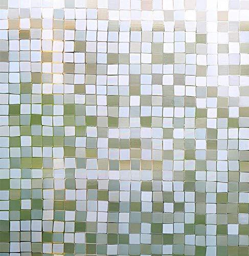 LMKJ Baño Oficina Película de Ventana extraíble estática Mosaico 3D Película de Puerta de Vidrio sin Pegamento Control térmico Etiqueta Anti-Vidrio UV Película de decoración del hogar A13 30x200cm