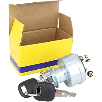 Solarhome 142-8858 Ignition Switch with 2 Keys for Caterpillar 257B Cat D6T 247B D6R D6T 267B 906 246B 242B 267B 216B 226B