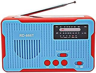 راديو - راديو دوار اليد الراديو المثير TTKK للطوارئ راديو 2300 مللي أمبير شمسي AM إف إم NOAA مع مصباح LED للهواتف الذكية