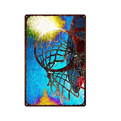 Puzzle 1000 piezas Pintura retro del arte retro del metal del tablero de la muestra del baloncesto de los deportes puzzle 1000 piezas clementoni Gran ocio vacacional, juegos intera50x75cm(20x30inch)