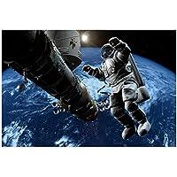BD-Boombdl キャンバスペインティングプリントウォールアートキャンバスペインティングスペース宇宙飛行士宇宙空間で働くピクチャールーム家の装飾40X60cmフレームなし