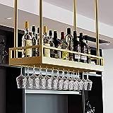 Estante Para Copas De Vino Para Colgar En El Techo, Vitrina De Vidrio De Hierro Forjado, Estante Para Decoración De Estantes De Bar, Que Puede Acomodar Todo Tipo De Botellas De Vino Y Copas De Vino
