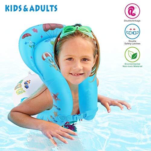 Baby Nuoto Sedile Supporto Anello Galleggiante Piscina Gonfiabile Giallo Piscina Aiuto