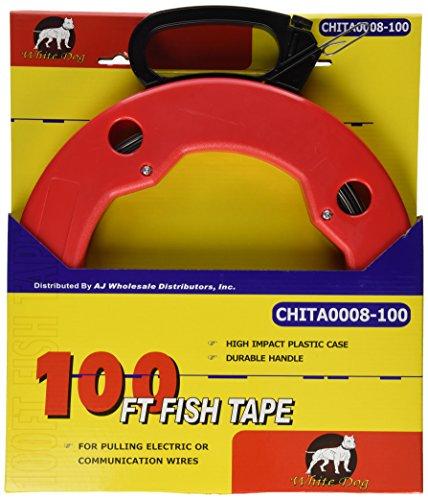100FT Fisch tape mit High Impact Case für elektrische oder Kommunikation Draht, Abzieher