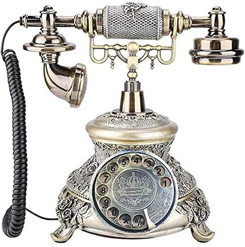 CJDM Teléfono clásico de la Vendimia, teléfono de la Vendimia del botón del teléfono Fijo Retro del hogar, teléfono de Llamada Clara y Estable Teléfono de la tecla Retro clásico