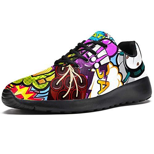 TIZORAX Laufschuhe für Herren Boom Bubble Rocket Wecker Gang Fashion Sneakers Mesh Atmungsaktiv Walking Wandern Tennis Schuh, Mehrfarbig - mehrfarbig - Größe: 42.5 EU