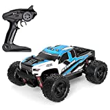 WANGCH 1/18 Off-Road Control Remoto Coche 2.4G Eléctrico Bigfoot Monster RC Truck 30KM / H High-Speed ​​Drift RC Vehículo Recargable Escalada RC Car Regalos para niños y Adultos