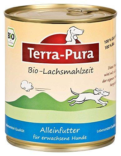 Terra Pura Bio Hundefutter Lachsmahlzeit 800 g Glutenfrei, 6er Pack (6 x 800 g)