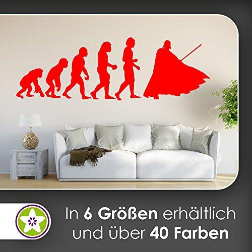 KIWISTAR Evolution - Weltraum Stern Krieg Film Wandtattoo in 6 Größen - Wandaufkleber Wall Sticker