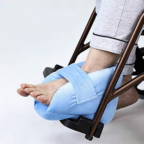 Fushida Foot Protector Cushion, Heel Pillow Protector Prevent Decubitus Ulcers Relief, Wheelchair Foot Cover Provide Secure and Comfort, Heel Cushion Protector Pillow to Relieve Pressure from Sores