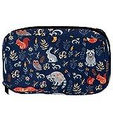 LORVIES - Modelo de búhos ratitas, lavadora, lavadora, zorro, bosque de cuento de hadas, neceser de maquillaje, bolsa de viaje, organizador de baño para mujer