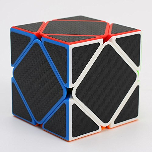 Skewb Cube with Carbon Negro Fibre Stickers by CubeShop