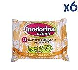 SALVIETTE INODORINA REFRESH CAMOMILLA - Salviettine detergenti profumate alla camomilla per cani, gatti e cuccioli (6 confezioni)