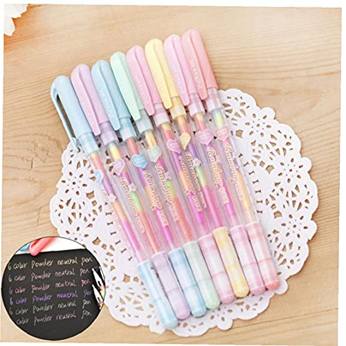 Froiny 4 Unids/Set Rainbow Watercole Gel Bols 6 En 1 Colorful Gouache Pastel Pen para Pintura Dibujo Suministros Escolares