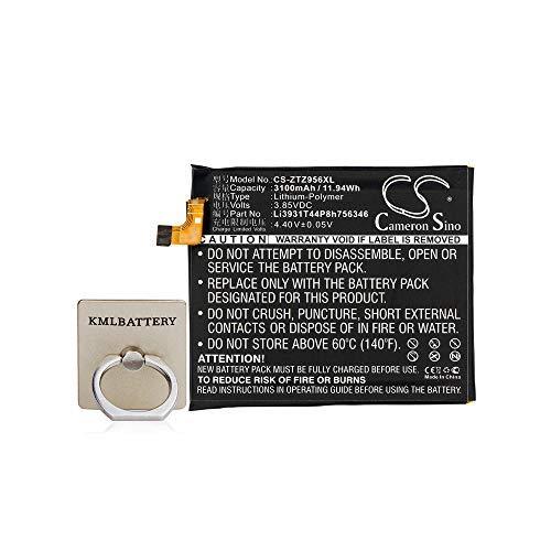 KML Battery for ZTE Li3931T44P8h756346, Fit Model ZTE Axon 7,A2017U. 3100mAh,3.85V, Li-Polymer