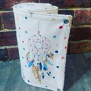 Essuie-tout lavables, en coton et éponge,zéro déchet,idée cadeau, motif attrape rêve,fait main