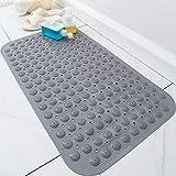B/H Resistente al Moho Bañera,Alfombrilla de baño Antideslizante Alfombrilla de baño con Ventosa-M_59CMx88CM,Orificios de Drenaje Alfombra