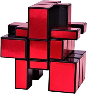 Mirror Cube 3x3x3 Speed Cube Puzzle Silver, Red, Red Mirror Cube for Children & Adults