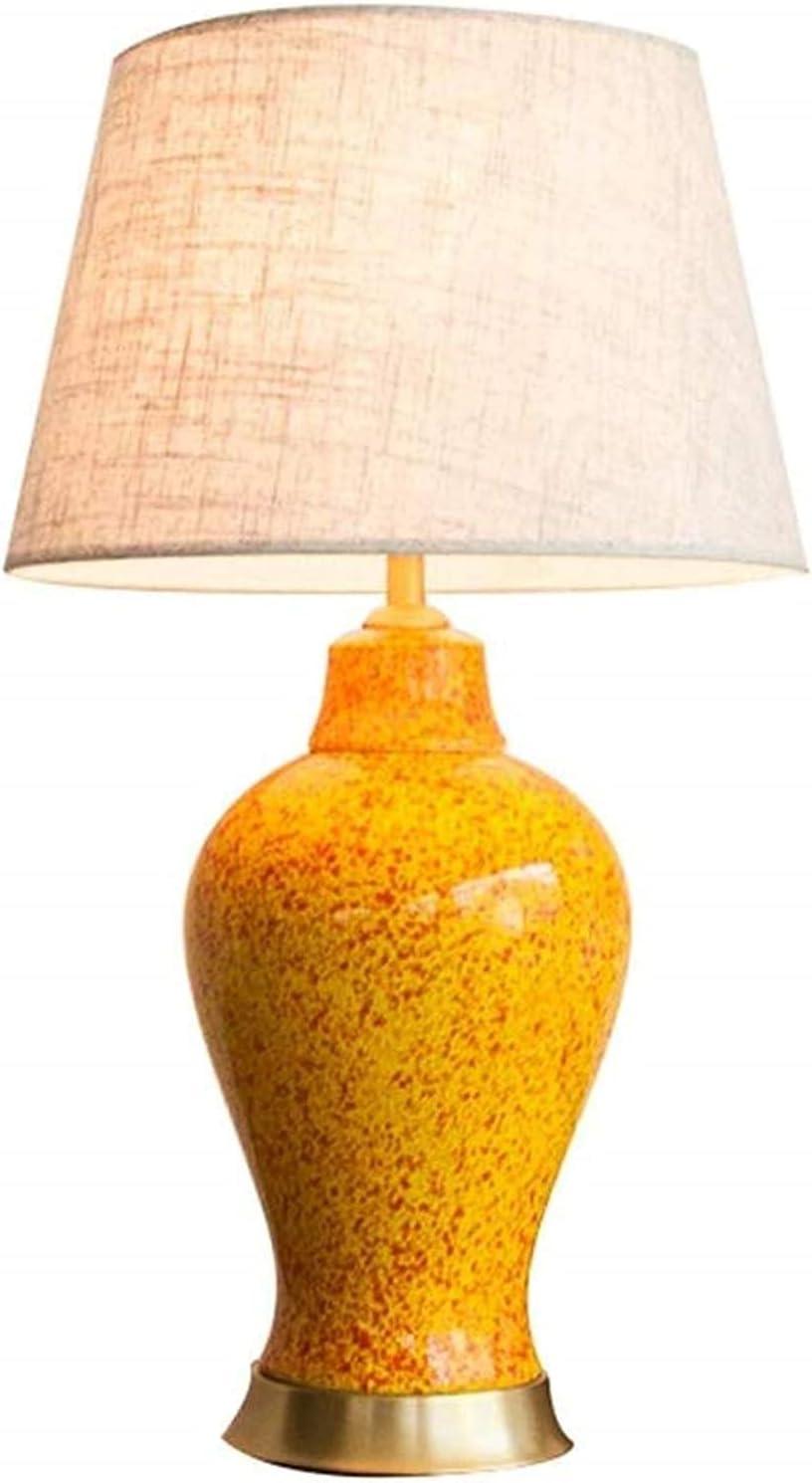 XFXDBT Nightstand Lamp Bedroom 2021 model Lamps Ceramic Table Yellow Super Special SALE held E