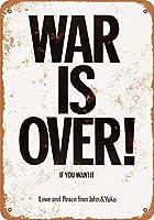 Shimaier 30×40cm 金属ブリキ看板ホーム装飾壁アート 1971 John Lennon & Yoko ONO War is Over