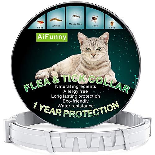 AiFunny Flea Collar for Cats, Cat Flea Treatment, Cat Flea Collar for Flea...