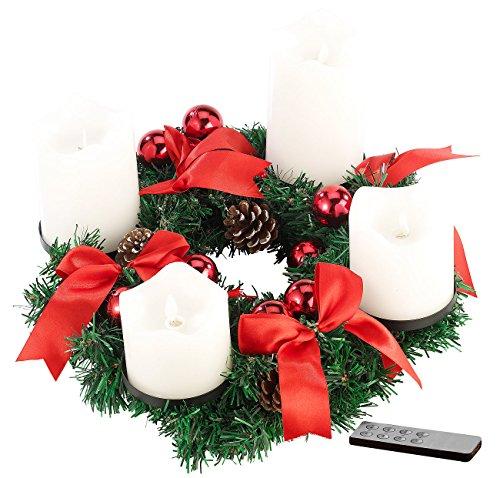 Britesta Advent gestecke: Corona dell' avvento, Rosso,...