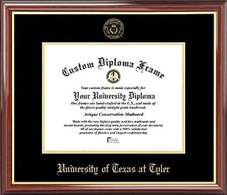 Laminated Visuals University of Texas at Tyler Patriots - Embossed Seal - Mahogany Gold Trim - Diploma Frame