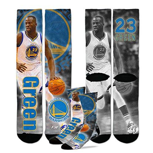 Tamaño de la juventud Golden State Warriors Nba Disco Crew Calcetines de niños (4–8años) 1par–Draymond verde