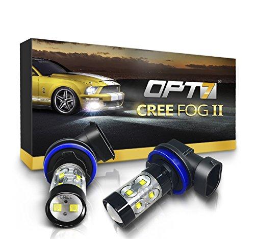 OPT7 Cree LED Bright White Fog Light Bulbs | Amazon