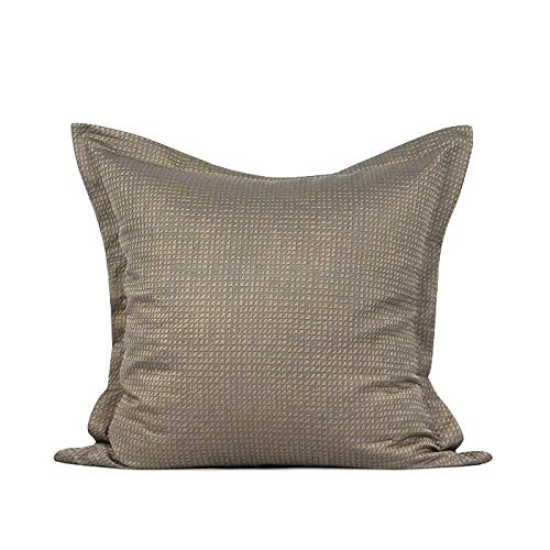 Cushion Covers Throw Pillow Cover Modern And Simple Small Triangle Texture Jacquard Sofa Bedroom Living Room Decoration Pillowcase Large Size Square Coffee Color 55cm x 55cm (Including Core)