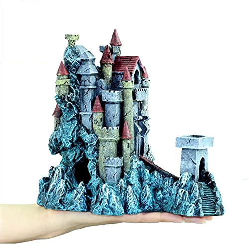 MJSHA European-Style Castle Aquarium Decorations,Resin Fish Tank Landscaping,Increase Beauty,Reduce The Boredom of Underwater Creatures
