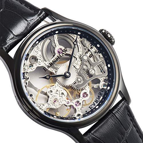 Thomas Earnshaw Mixte Adulte Squelette Mécanique Montre avec Bracelet en Cuir ES-8049-04