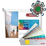 ADLER Ultra-Color Wandfarbe - Volltonfarbe und Abtönfarbe in 100+ Farbtönen - Atmungsaktiv, Hochdeckend, Lösungsmittelfrei - Türkis/Blau- 1L