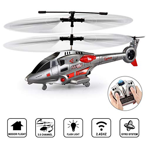 Remote Control Helicopter for Kids, GoStock RC Helicopter Toy with Gyro and LED Light 3.5 Channel Alloy Mini Helicopters, Indoor Helicopter with Remote Control for Adults
