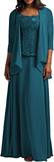 Mother Of The Bride Dress With Jacket Long Evening Gowns Lace Prom Dress