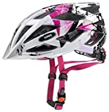 Uvex Unisex Jugend, air wing Fahrradhelm, white-pink, 52-57 cm