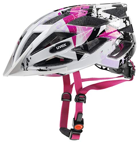Uvex, Casco ciclismo Air wing, Multicolore (white-pink), 52-57 cm