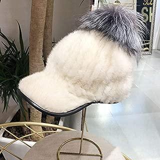 Fur Hat Female Mink Hat Female Winter Whole Mink Mink Woven Cap Ball Wine Red