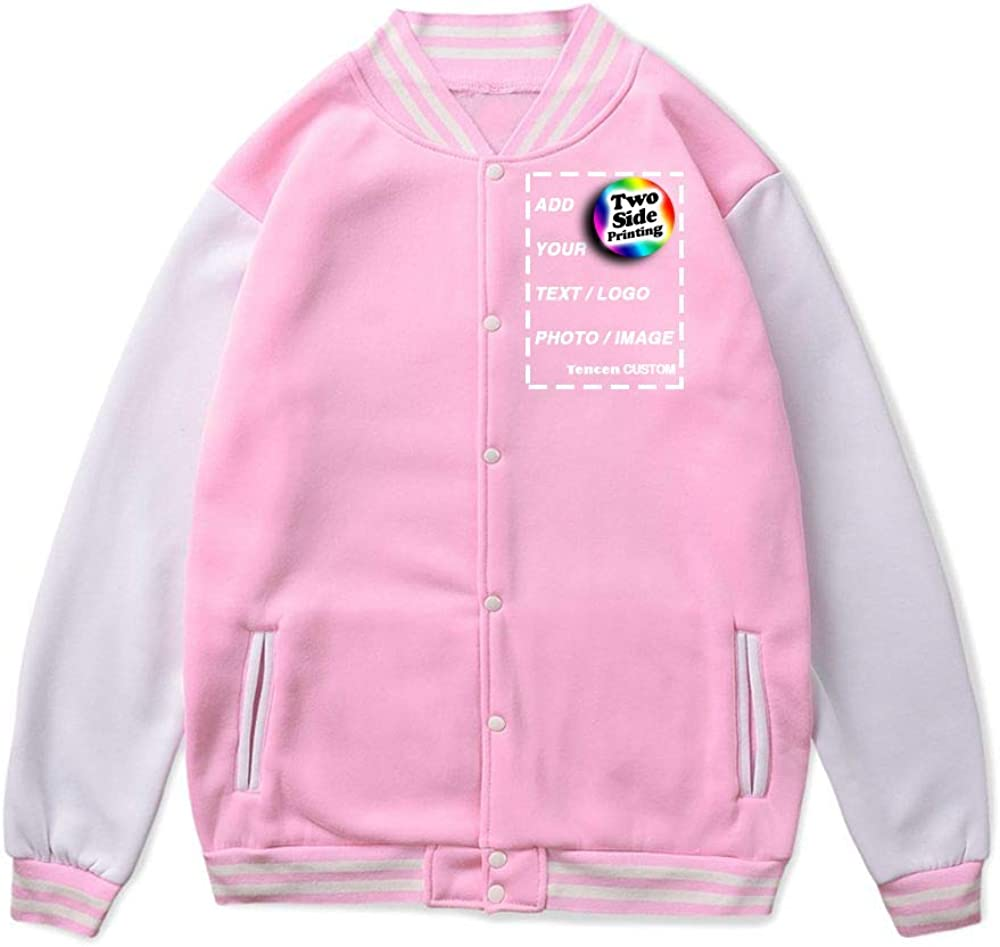 Tencen Custom Varsity Jacket Design Your Own letterman bomber award teddy jacket 2 Side All Over Print Front Back Jersey