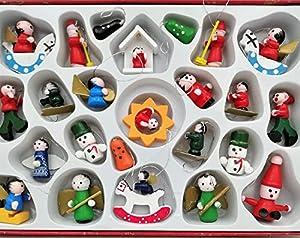 24 Weihnachtsanhänger Weihnachtsmann Schneemann Engel Schaukelpferd Baumschmuck Weihnachten Deko Anhänger