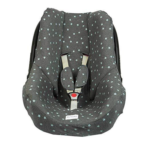 BAOBABS BCN Funda para Maxi Cosi Cabriofix y Grupo 0 mint stars acabado de calidad para bebé