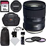 Tamron SP 24-70mm F/2.8 G2 Di VC USD Zoom Lens for Canon Cameras (6 Year Limited USA Warranty), Transcend SDHC 32GB Memory Card, Polaroid 82mm Filter Kit, Ritz Gear Camera Bag and Accessory Bundle