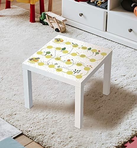 MyMaxxi | Aufklebefolie Möbelfolie Leiterspiel 01 Spielfolie für IKEA Lacktisch 55 x 55cm Stadtleben Aufkleber Sticker Kinderzimmer Spieltisch Brettspiele selbstklebend