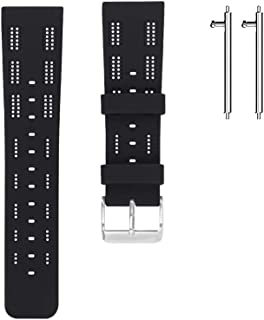Soft Silicone Floral Pattern Watch Belt,Tonsee Sport Fitness Strap Replacement Watch Bands Compatible with Fitbit Versa or Versa Lite with Raw Ear Pins