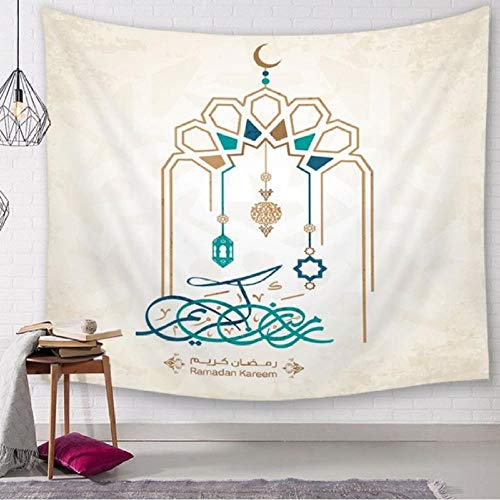 Zbzmm Arabische lantaarn tapijt Ramadan wandbehang tapijt decoratieve moskee Tenture muurschildering woonkamer woonhuis decoratie wandbehang hoofddecoratie