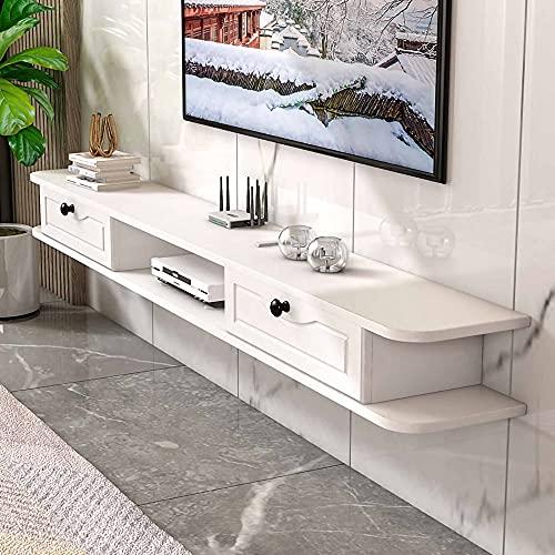 Mueble de TV Flotante, Mueble TV de Pared mate para sala de estar oficina dormitorio, para guardar DVD reproductor de Blu-Ray caja de cable/C / 100cm