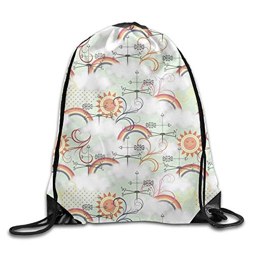 DSGFSQ Zaini Casual Hearts and Arrows Cute Boys Drawstring Bag Heavy Duty String Backpack College