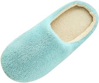 OHQ Zapatillas De Casa Mujer Invierno Zapatillas De Felpa Suave En El Interior Antideslizantes Zapatos De Dormitorio Piso ...