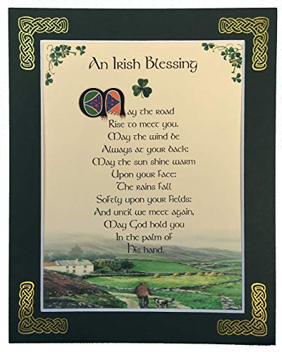 May The Road Rise To Meet You - 8x10 Irish Blessing with Green Matting